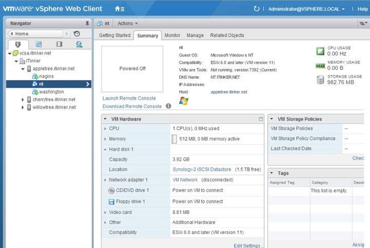 NT4 VM on ESXi 6.x