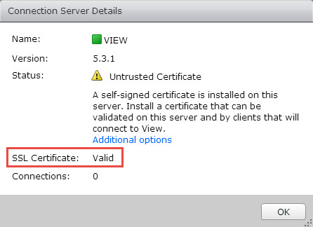 VMware Horizon View Connection Server SSL Certificate How-to | ESX ...