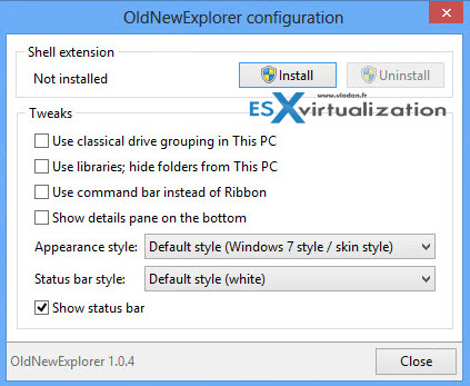 OldNewExplorer for Windows 8.X
