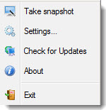 One Click Restore - sits in the tray