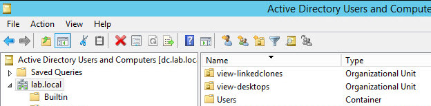 Create a separate OU for linked-clone desktops