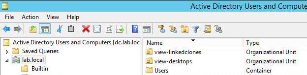 Create a separate OU for linked-clone desktops
