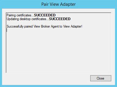 vRealize Operations View Broker Agent config Wirazrd