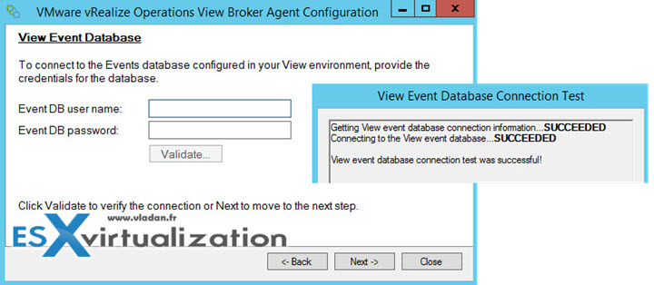 VMware vRealize Operations View Broker Agent Configuration Wizard