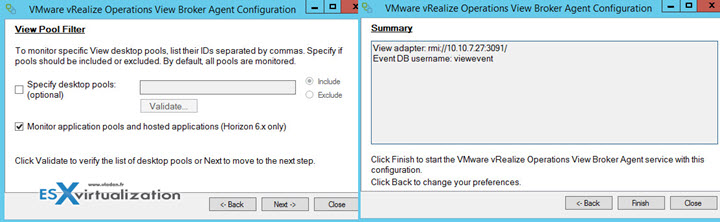 VMware vROPS View Broker Agent Configuration Wizard