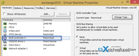 How-to safely change from LSI logic SAS into VMware