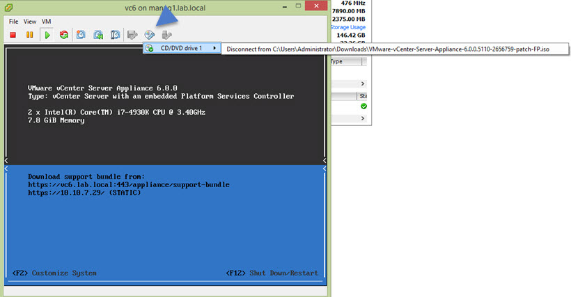 Patch VMware vCenter Server (VCSA) | ESX Virtualization