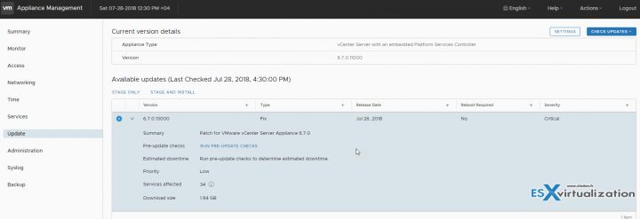 How-to patch VMware vCSA 6.7