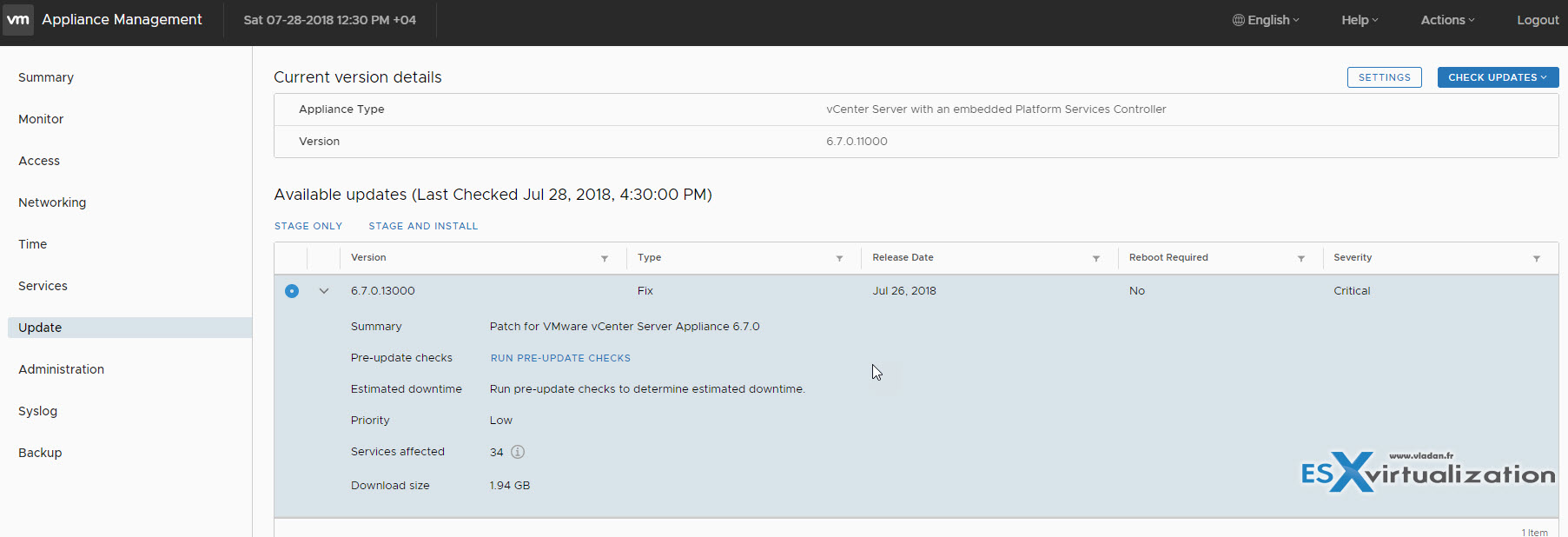 How to Patch VMware vCenter Server Appliance (VCSA) 6 7