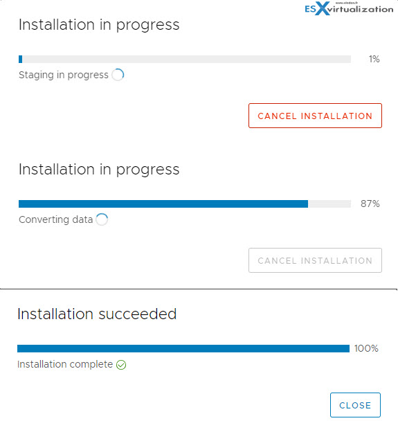 VMware VCSA Update process takes long time