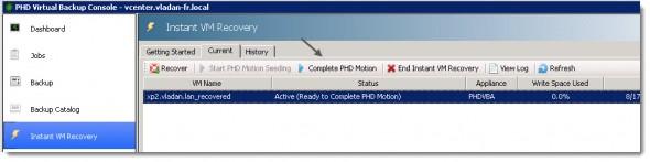 PHD Virtual Backup 6.0 - PHD Motion
