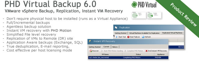 PHD Virtual Backup 6.0