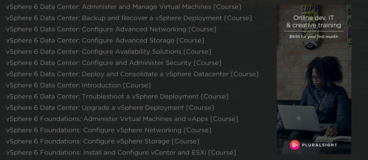 vSphere 6 Training on Pluralsight