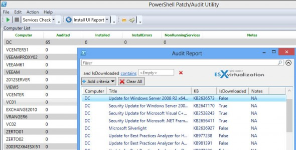 PoshPAIG GUI Tool for Auditing and Installing patches on Windows servers