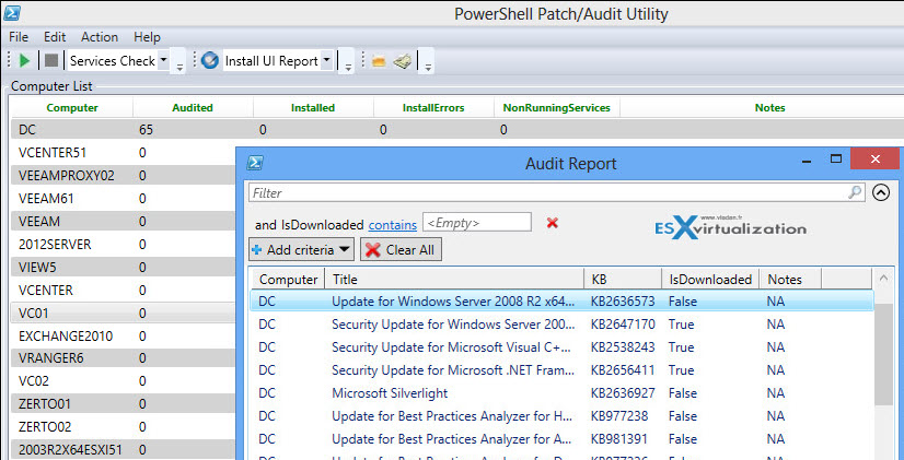 PowerShell Audit and Patch Installation - Free GUI Utility