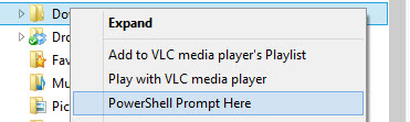 How to Add PowerShell Prompt Here to a Folder