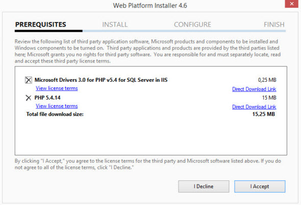 pre req IIS and PHP Setup   The Easy Way On Windows Server 2012 With Web Platform Installer