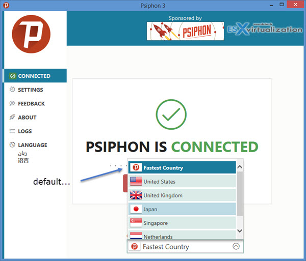 Free OpenSource PSiphon Client to Bypass Country