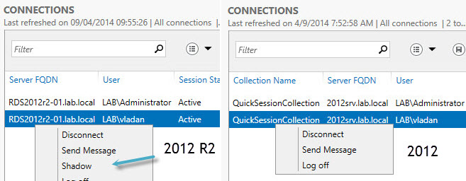 Shadowing RDS connections in Windows 2012 R2 | ESX