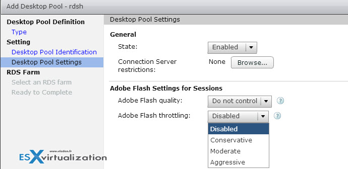 VMware Horizon View - Configure RDSH Desktop Pool