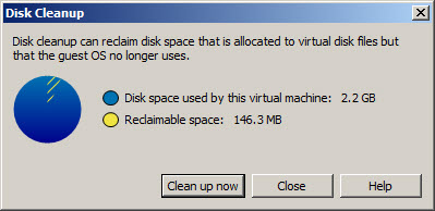 Workstation can reclaim disk space from thin provisioned disks on local VMs