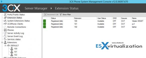 3CX Phone system - registered