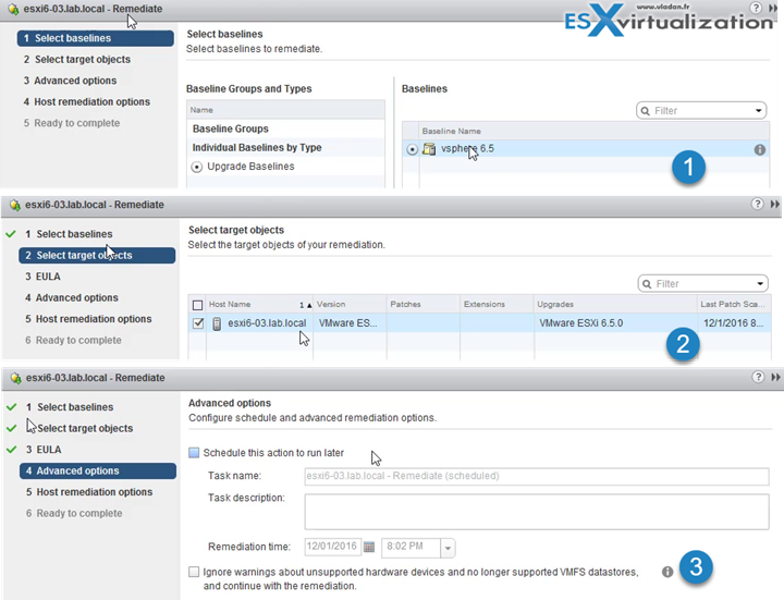 How to upgrade a ESXi 6.0 to ESXi 6.5 via VMware Update Manager