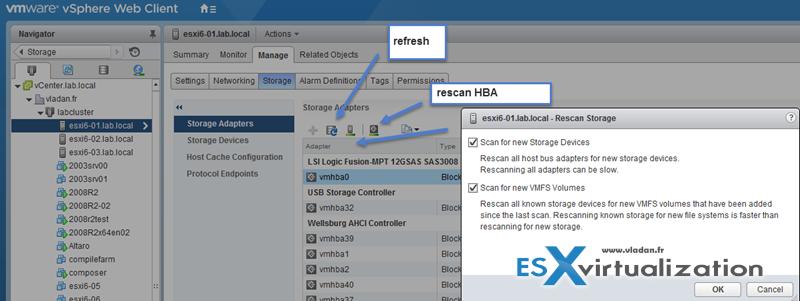 Rescan vSphere Storage