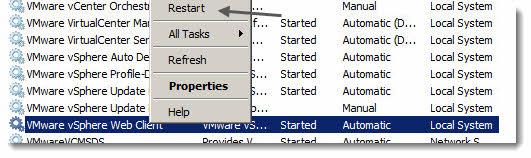 vSphere Web Client - changing the default value