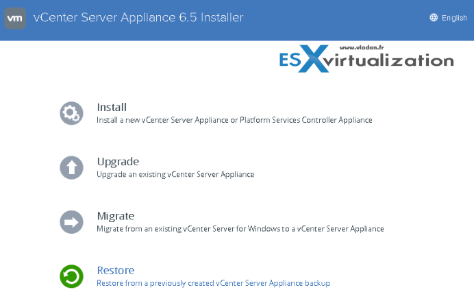 How to backup and restore VCSA 6.5