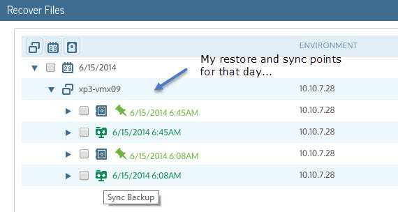 Unitrends Virtual Backup 8 - File Level Restore