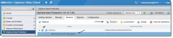 restore1 590x131 vSphere Data Protection (VDP)   restore operations