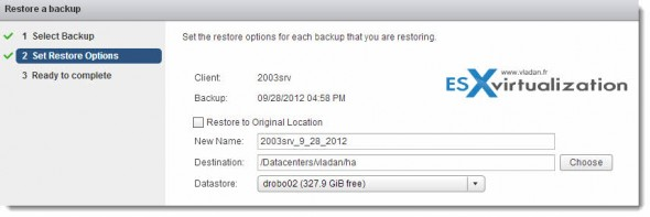restore2 590x197 vSphere Data Protection (VDP)   restore operations