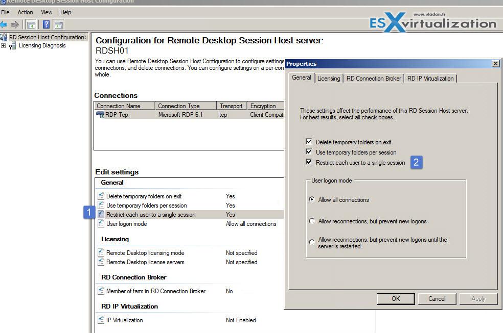 VCP6-DTM Objective 3 5 - Configure RDSH (Remote Desktop Session Host