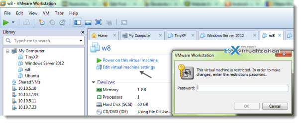 How-To restrict Virtual Machine in VMware Workstation 9