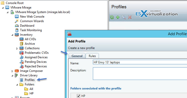 VMware Mirage Rules and Driver Profiles
