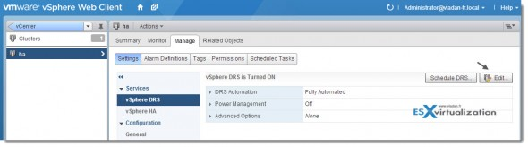 Save Snapshot of the resource pool tree - vSphere 5.1