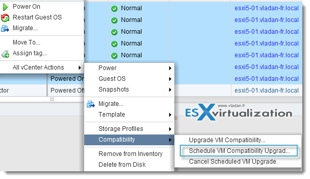 scheduled upgrade Top VMware vSphere 5.1 Features