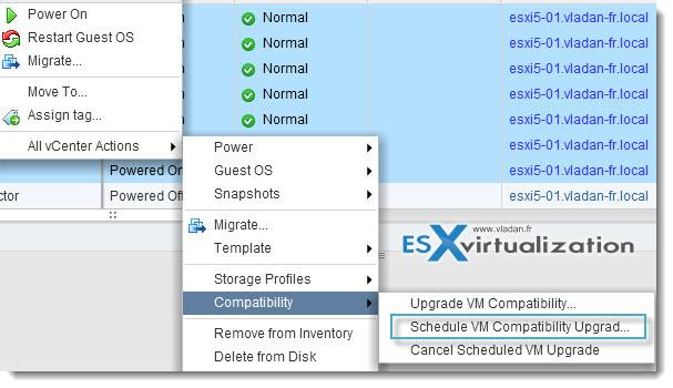 VMware vSphere 5.1 - scheduled upgrade of VMware Tools