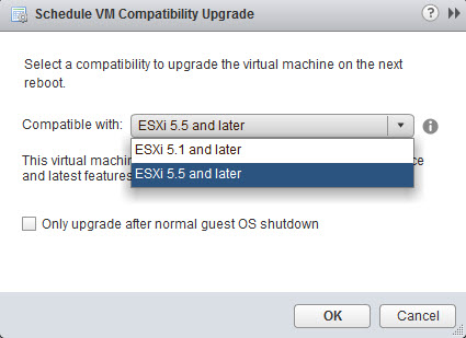 Three Ways to Downgrade Virtual Machine Hardware Version | ESX