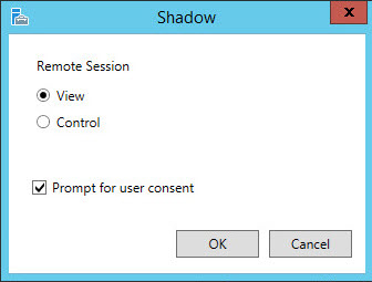 shadow Shadowing RDS connections in Windows 2012 R2