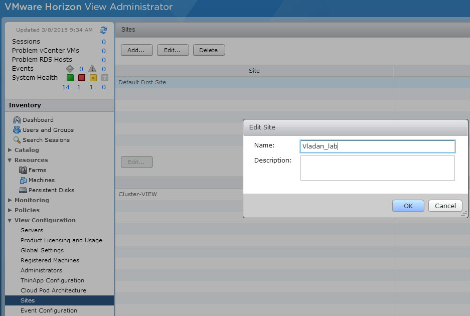 VMware Horizon View 6.1 Cloud Pod Architecture enhancements