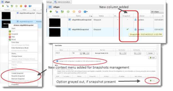 vCloud Director 5.1 New Features - Snapshots of VMs and vApps
