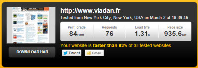 Vladan.fr - Speed Test