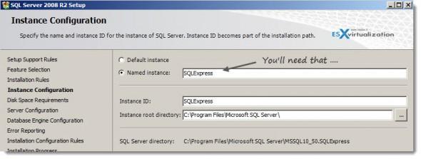 VMware Mirage - Installation SQL Server 2008 R2 Express Edition