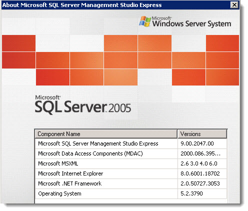 how to install microsoft sql server management studio express 2005