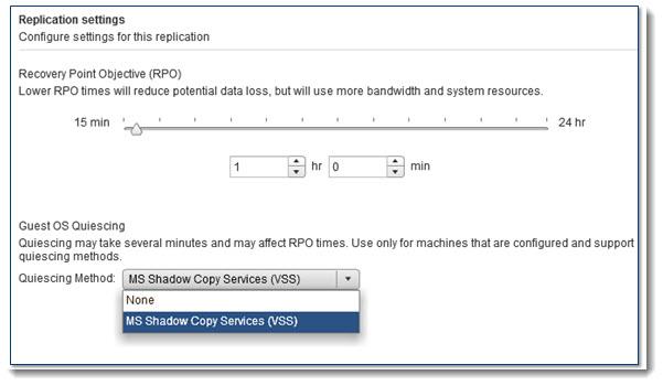 VMware SRM 5.1 - application aware