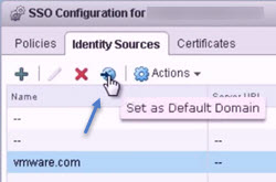 VMware vSphere 5.5 - SSO Config with default identity source