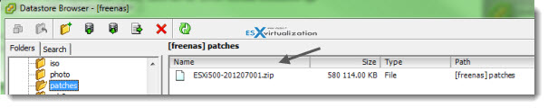 stage patches How to patch ESXi 5 without vCenter