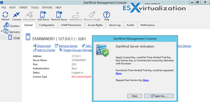Apply Starwind License